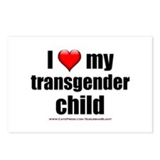 """""""Love My Transgender Chil Postcards (Package of 8)"""