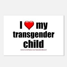 """Love My Transgender Chil Postcards (Package of 8)"