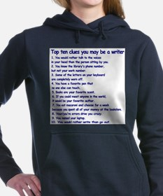 Clues You May Be a Writer Hooded Sweatshirt