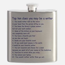 Clues You May Be a Writer Flask