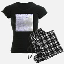 Clues You May Be a Writer Pajamas