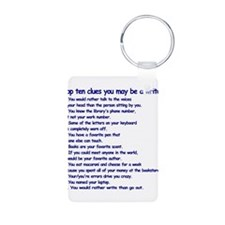 Clues You May Be a Writer Keychains