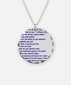 Clues You May Be a Writer Necklace