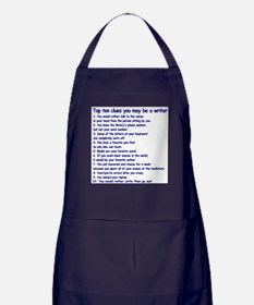 Clues You May Be a Writer Apron (dark)