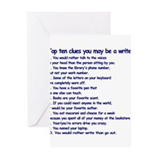Clues You May Be a Writer Greeting Card