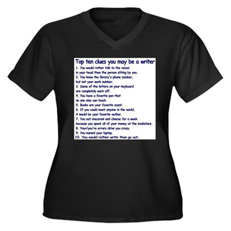 Clues You May Be a Writer Women's Plus Size V-Neck