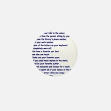 Clues You May Be a Writer Mini Button (10 pack)