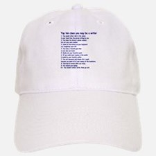 Clues You May Be a Writer Baseball Baseball Cap