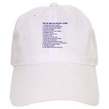 Clues You May Be a Writer Baseball Cap