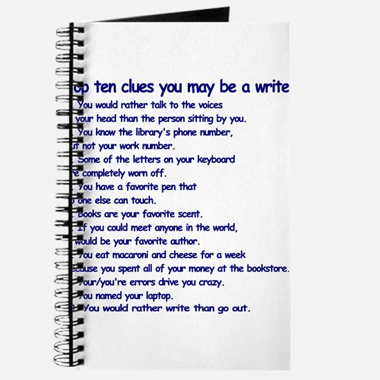 Clues You May Be a Writer Journal