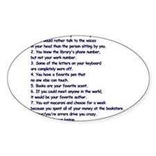 Clues You May Be a Writer Decal