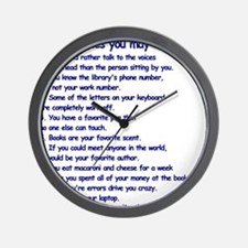 Clues You May Be a Writer Wall Clock