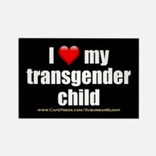 """Love My Transgender Child"" Rectangle Magnet"