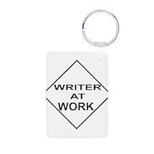 WRITER AT WORK Keychains