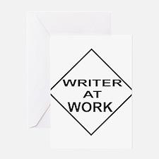 WRITER AT WORK Greeting Card