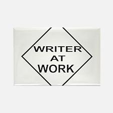 WRITER AT WORK Rectangle Magnet