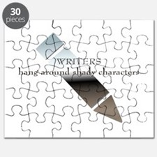 Writers hang around shady characters Puzzle
