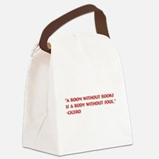 A room without books Canvas Lunch Bag