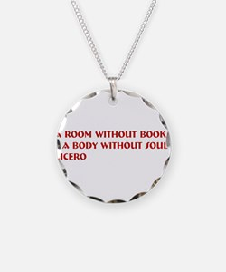 A room without books Necklace Circle Charm