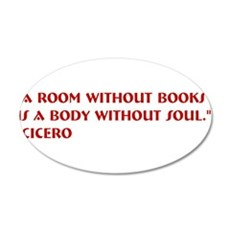 A room without books 20x12 Oval Wall Decal