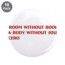 "A room without books 3.5"" Button (10 pack)"