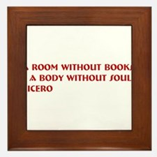 A room without books Framed Tile