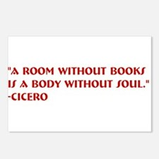 A room without books Postcards (Package of 8)