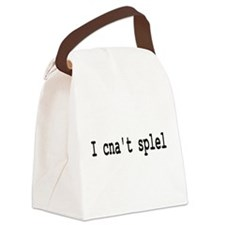 cantspell.png Canvas Lunch Bag