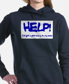 Help! Ive got a plot bunny on my back Hooded Sweat