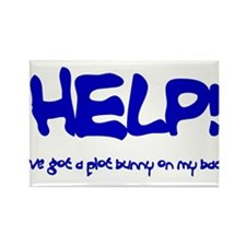 Help! Ive got a plot bunny on my back Rectangle Ma