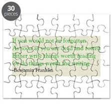 Ben Franklin Writing Advice Puzzle