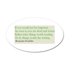 Ben Franklin Writing Advice Wall Decal