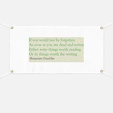 Ben Franklin Writing Advice Banner