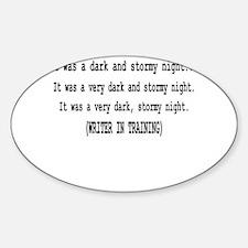 writerintraining.png Sticker (Oval)
