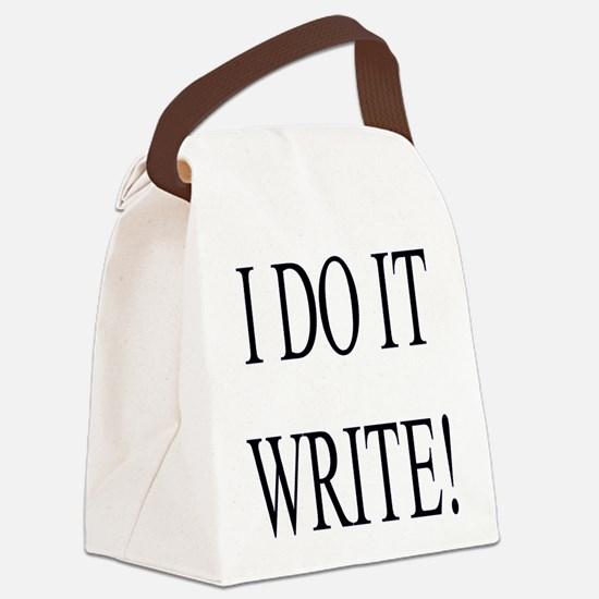 I Do It Write! Canvas Lunch Bag