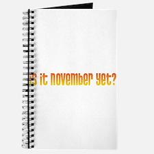 Is it November yet? Journal