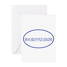 Writing Plot Jackalopes Greeting Card