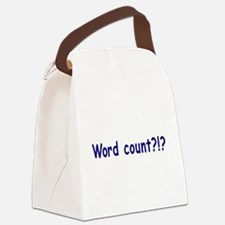 Writing Word Count Canvas Lunch Bag