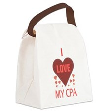 I LOVE MY CPA Canvas Lunch Bag