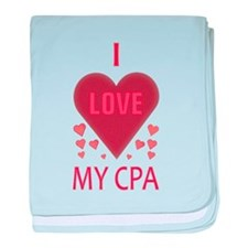 I LOVE MY CPA baby blanket