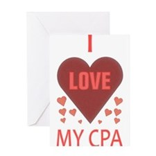 I LOVE MY CPA Greeting Card