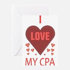 I LOVE MY CPA Greeting Card
