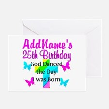CHRISTIAN 25TH Greeting Card