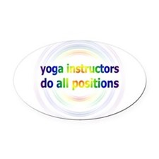 Yoga Positions Oval Car Magnet
