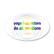 Yoga Positions Wall Decal