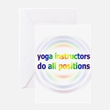 Yoga Positions Greeting Card