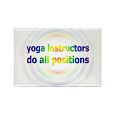 Yoga Positions Rectangle Magnet
