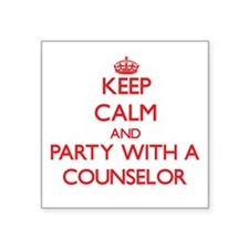 Keep Calm and Party With a Counselor Sticker