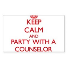 Keep Calm and Party With a Counselor Decal