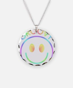 Groovy Pastel Smiley Necklace